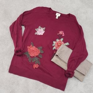 Embellished Crewneck Sweater